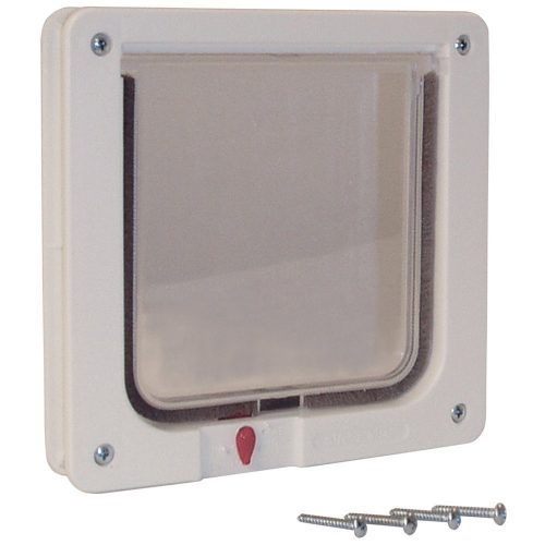 Cat-Supply-4WayLock-CatDoorTelescoping-Frame-LEXAN-Flap