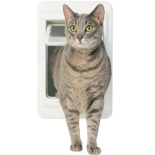 Cat-Supply-4WayLock-Tubby-CatDoor-LEXAN-Flap