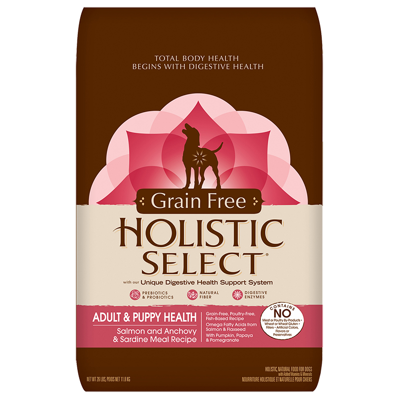 Holistic select grain free salmon anchovy sardine meal 26lb all dog food holsitic select grain free salmon anchovy forumfinder Image collections