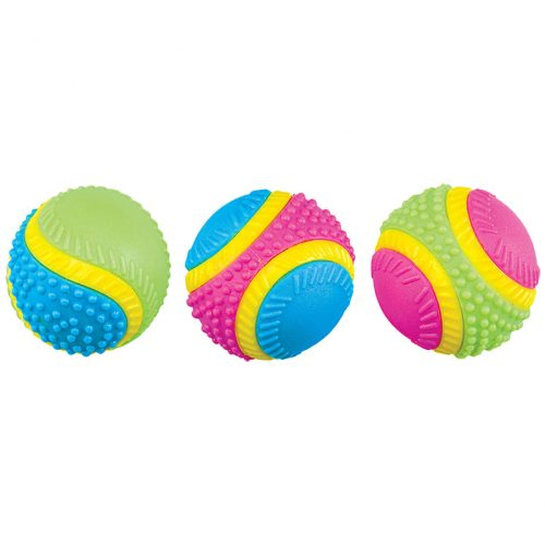 Dog-Toys-Multi-Sensory-Rubber-Ball-Assorted-3.25