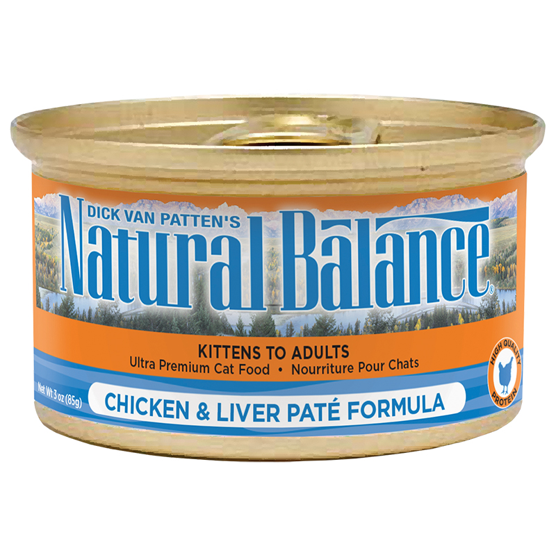 natural balance ultra premium cat chicken liver pate 24 3oz cat and kitten food all for pets. Black Bedroom Furniture Sets. Home Design Ideas