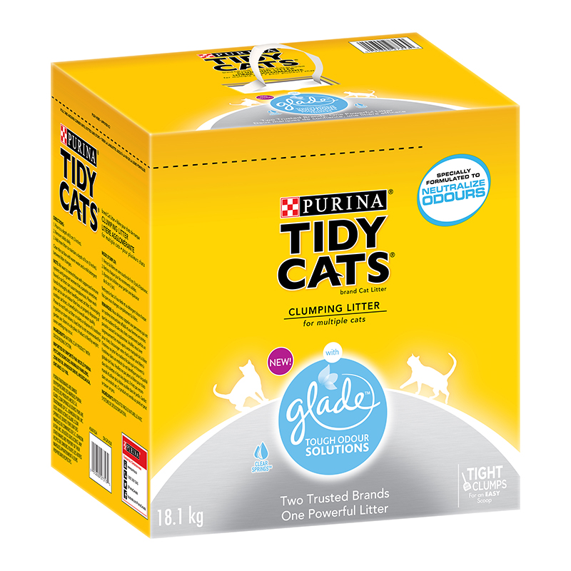Purina® Tidy Cats® 24/7 Performance™ Clumping CAT Litter for Multiple Cats. kg. 11 Reviews. Price. Price. Add to next order Limited Stock Add to cart View details. Add to list. Add to registry Purina® Tidy Cats® with Glade™ Clear Springs™ Clumping CAT Litter. kg. 11 Reviews. Price. Price. Add to next order Limited Stock Add to cart View details. Add to list. Add to.