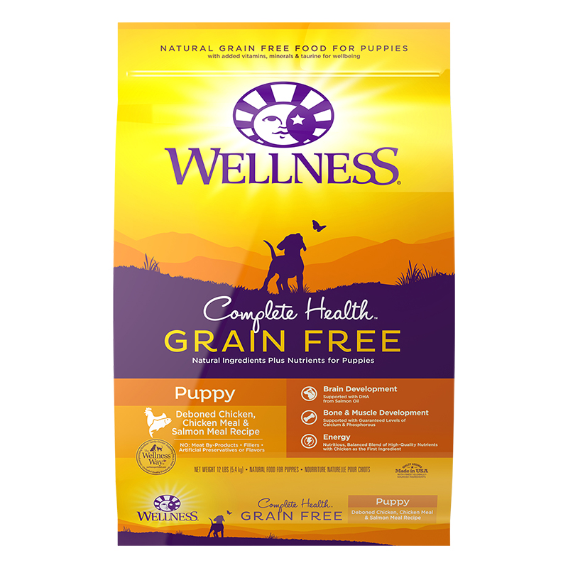 Dog Food Wellness Complete Health Grain Free Puppy Chicken