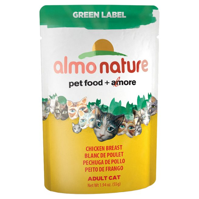 Cat-Food-Almo-Green-Label-Pouches-Chicken-Breast-24-55GM