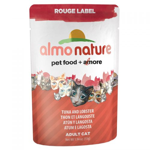 Cat-Food-Almo-Rouge-Label-Pouches-Tuna-Fillet-and-Lobster-24-55GM