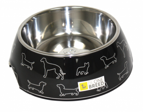 Dog-Supply-Design-Bowl-Black-Doggies-Large