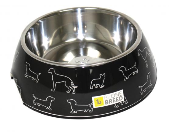 Dog-Supply-Design-Bowl-Black-Doggies-Large