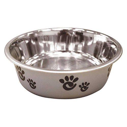 Dog-Supply-Barcelona-Bowl-Pearlized-Silver-16OZ