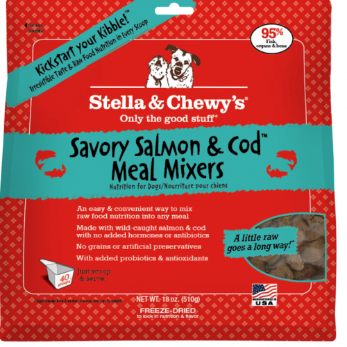 Dog-Food-Freeze-Dried-Salmon-Cod-Meal-Mixers-18OZ