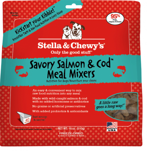 Dog-Food-Freeze-Dried-Salmon-Cod-Meal-Mixers-18OZ
