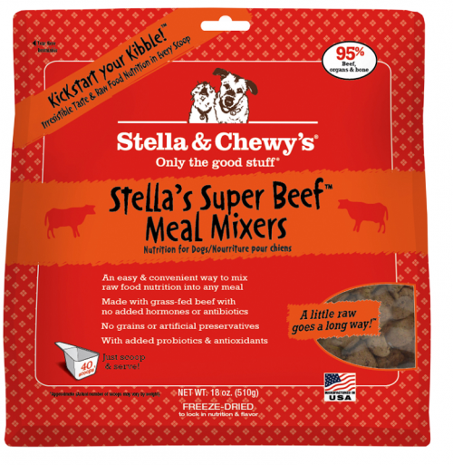 Dog-Food-Freeze-Dried-Super-Beef-Meal-Mixers-18OZ
