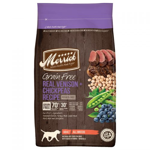 Dog-Food-Grain Free Venison & Chickpeas 12LB