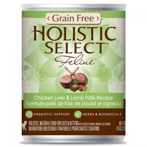 Cat-Food-Holistic-Select-Grain-Free-Chicken-Liver-Lamb-Pate-12-13OZ