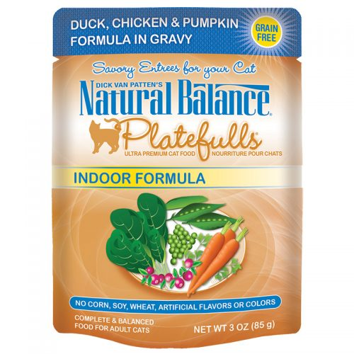 Cat-Food-Natural-Balance-Platefulls-Cat-Indoor-Duck-Chicken-Pumpkin-24-3OZ