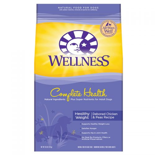 Dog-Food-Wellness-Complete-Health-Healthy-Weight-Deboned-Chicken-Pea-5LB