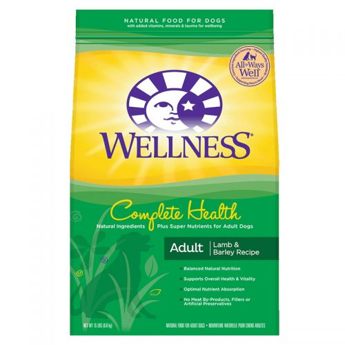 Dog-Food-Wellness-Complete-Health-Lamb-Barley-15LB
