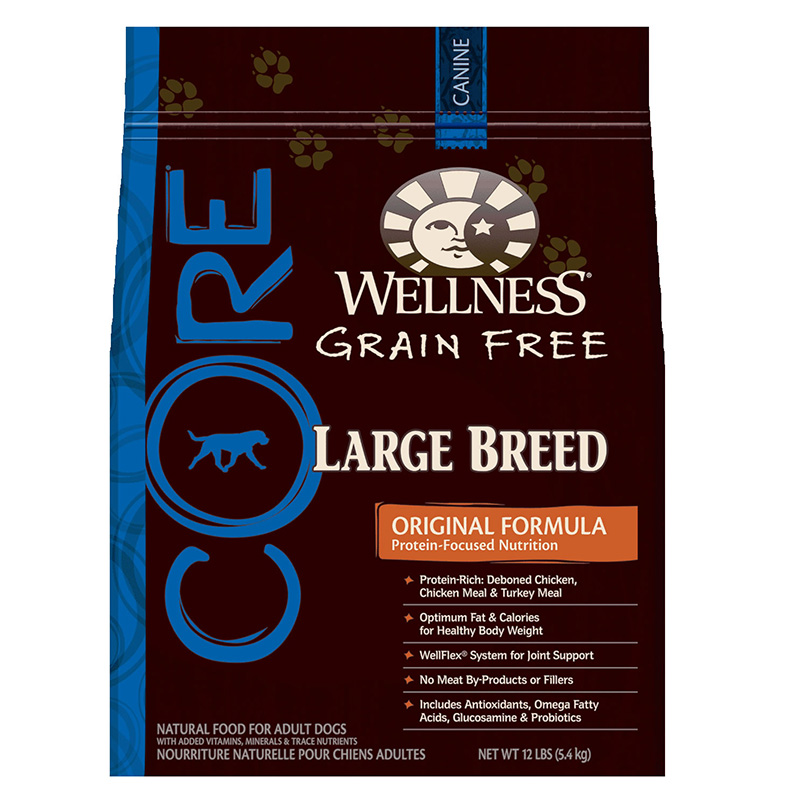 Wellness Core Large Breed Dog 12lb All For Dogs Dog And