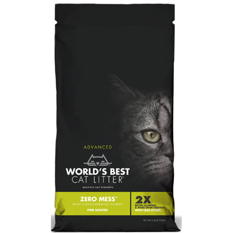 World's Best Zero Mess Pine Scented 12LB, All For Cats